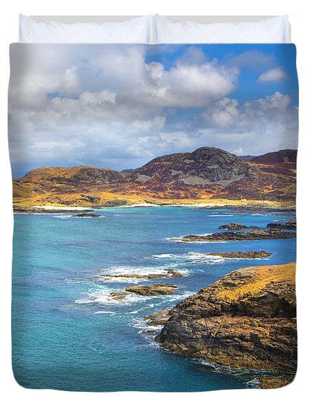View From Ardnamurchan Duvet Cover by David Hare