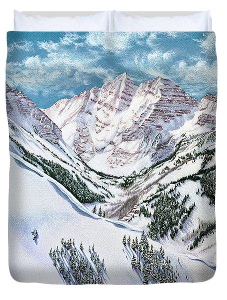 View From Aspen Highlands Duvet Cover
