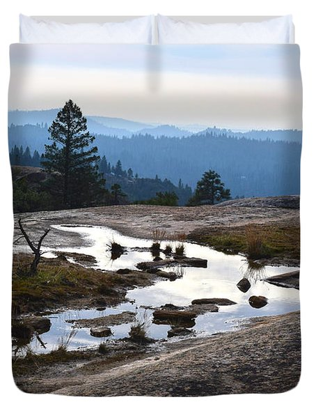 View From Bald Rock Dome Duvet Cover
