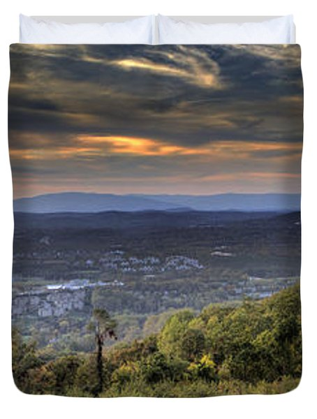 View From Carters Mountain Duvet Cover