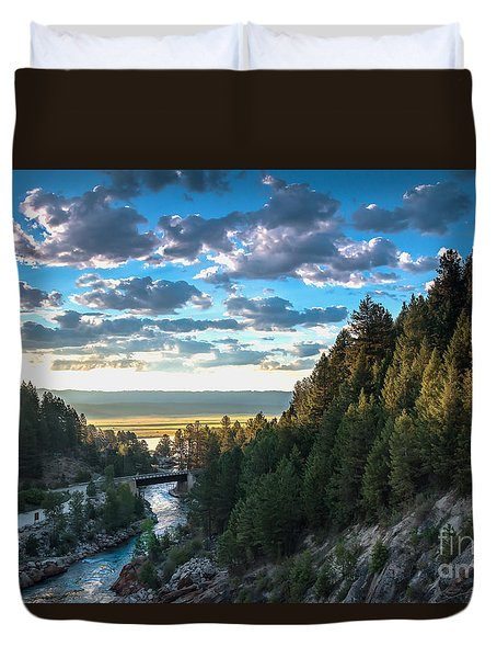 View From Cascade Dam Of The North Fork Of The Payette River Duvet Cover by Robert Bales