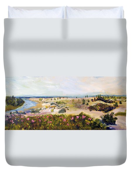 View From Edgartown Light Duvet Cover
