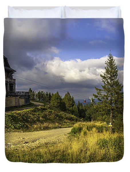 View From Jaworzyna Mountain In Poland 1 Duvet Cover by Julis Simo