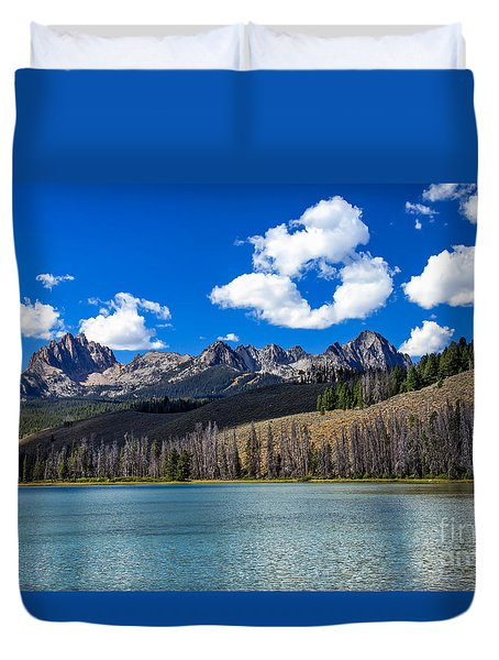 View From Little Redfish Lake Duvet Cover by Robert Bales