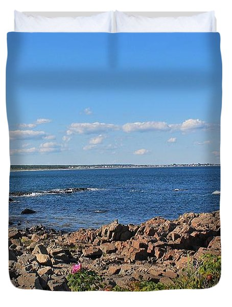View From Marginal Way Ogunquit Maine 3 Duvet Cover
