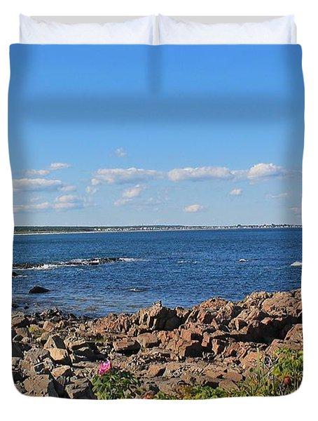 View From Marginal Way Ogunquit Maine 3 Duvet Cover