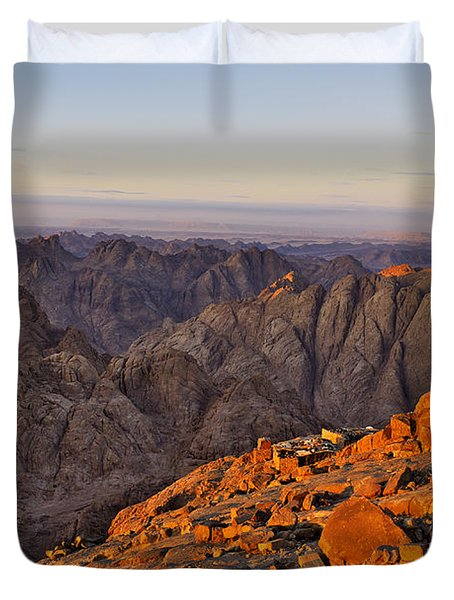 View From Mount Sinai Duvet Cover by Ivan Slosar