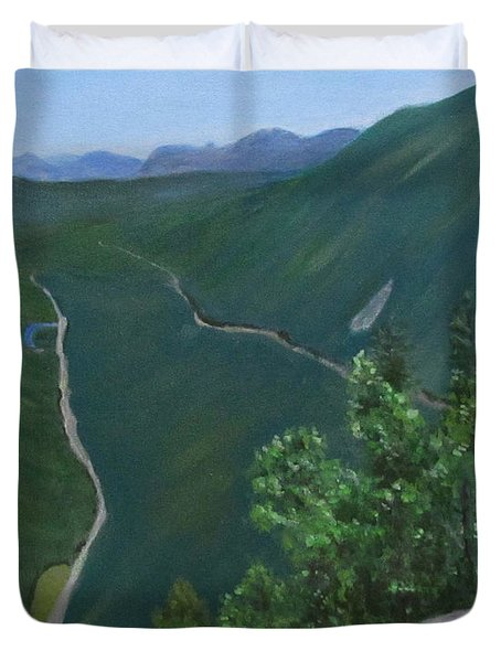 View From Mount Willard Duvet Cover
