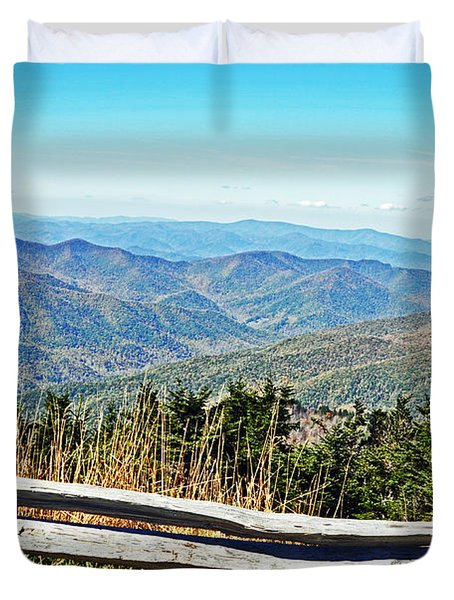 View From Mt. Mitchell Summit Duvet Cover by Lydia Holly