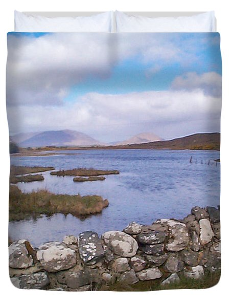 View From Quiet Man Bridge Oughterard Ireland Duvet Cover