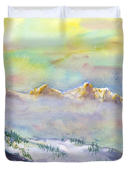 View From Snowbird Duvet Cover
