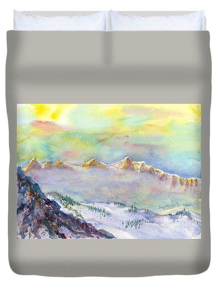 View From Snowbird Duvet Cover