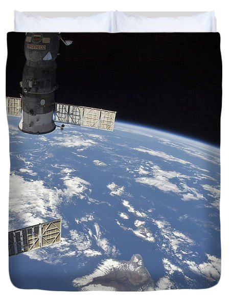 View From Space Showing Part Duvet Cover by Stocktrek Images