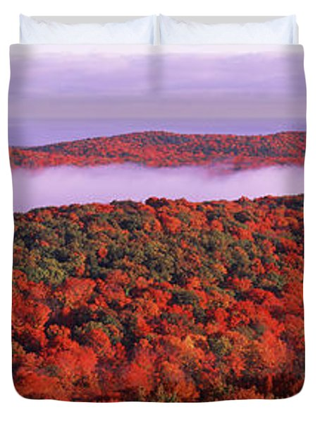 View From Summit Peak, Porcupine Duvet Cover