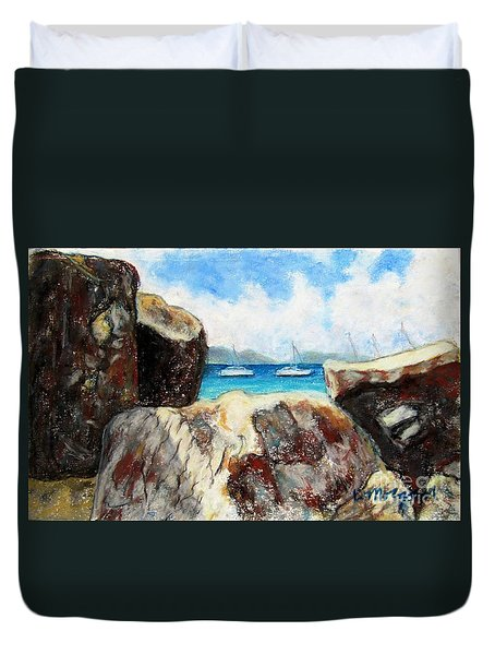 View Of Devil's Bay Duvet Cover