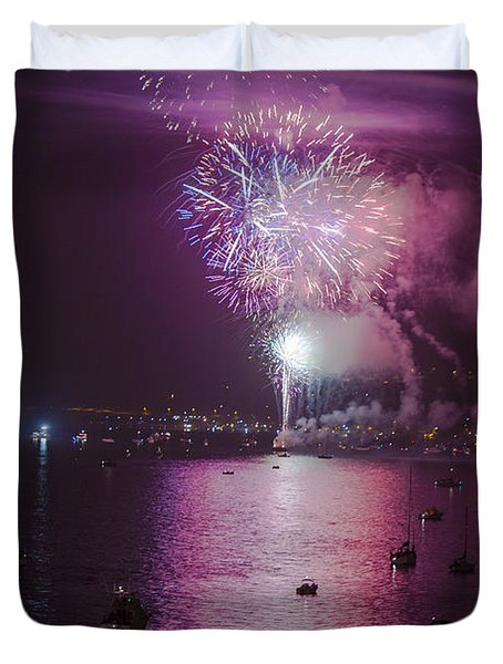 View From The Deck Duvet Cover by Scott Campbell