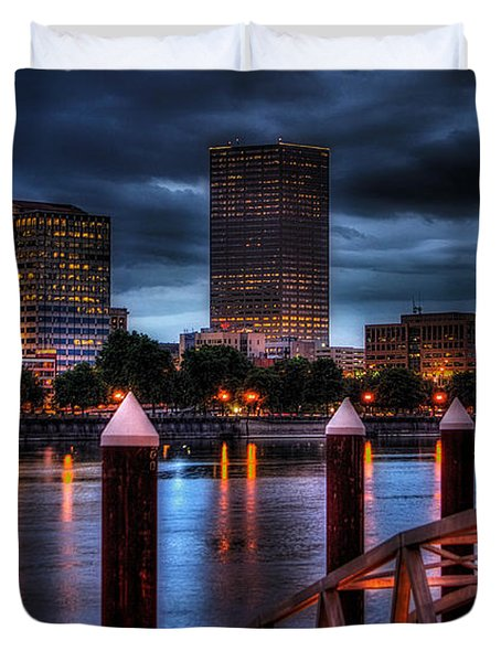 Duvet Cover featuring the photograph The Eastbank by Thom Zehrfeld