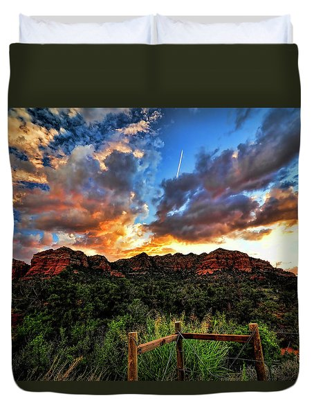 View From The Fence  Duvet Cover