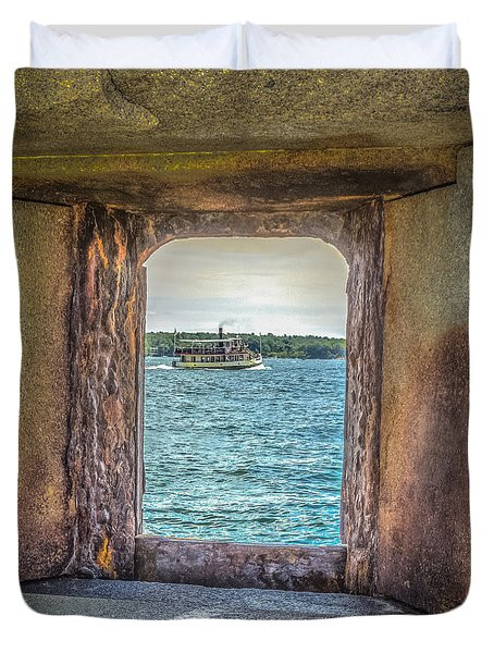 View From The Fort Duvet Cover by Jane Luxton