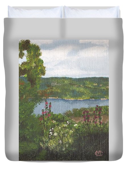 View From The Garden Duvet Cover by Cynthia Morgan