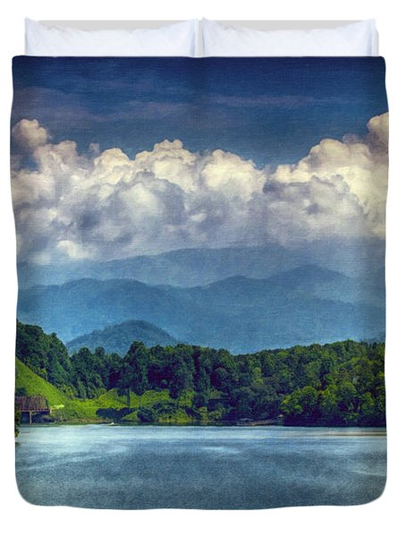 View From The Great Smoky Mountains Railroad Duvet Cover