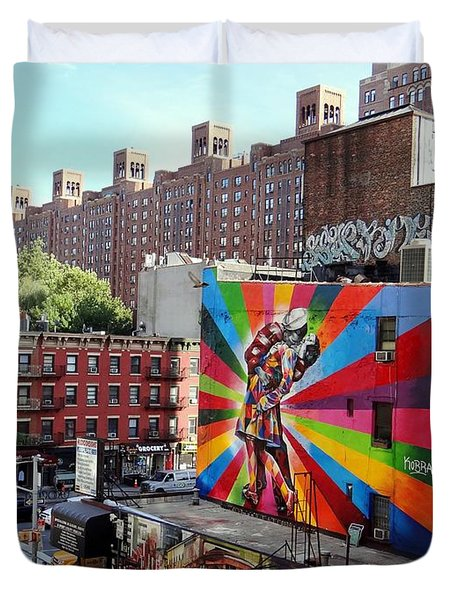 View From The Highline Duvet Cover by Ed Weidman