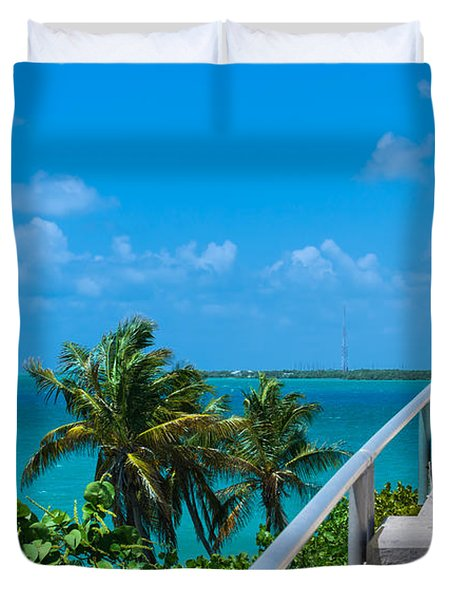 View From The Old Bahia Honda Bridge Duvet Cover