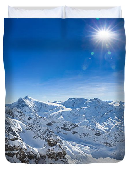 View From Titlis Mountain Towards The South Duvet Cover