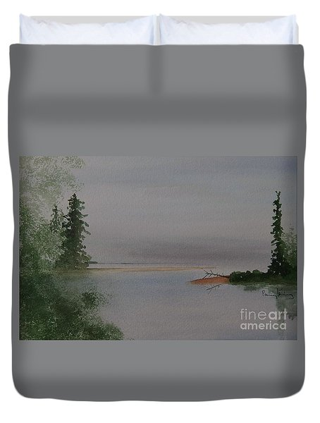 Big Bay On Lake Superior Duvet Cover