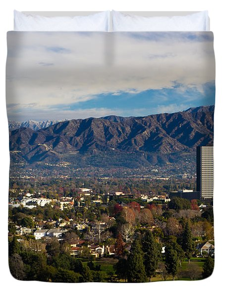 View From Universal Studios Hollywood Duvet Cover by Heidi Smith