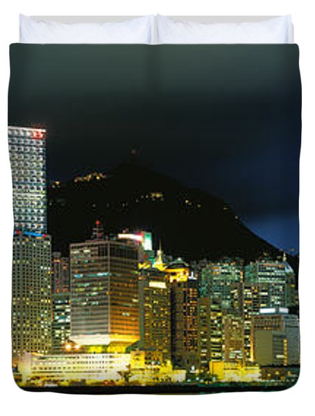View From Wanchai, Central District Duvet Cover