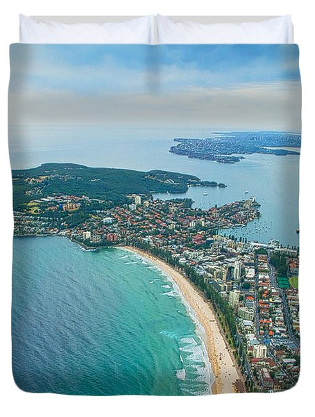 Duvet Cover featuring the photograph View by Miroslava Jurcik