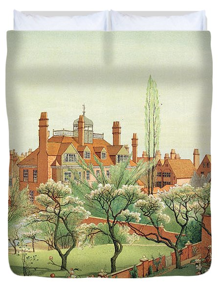 View Of Bedford Park Duvet Cover by English School