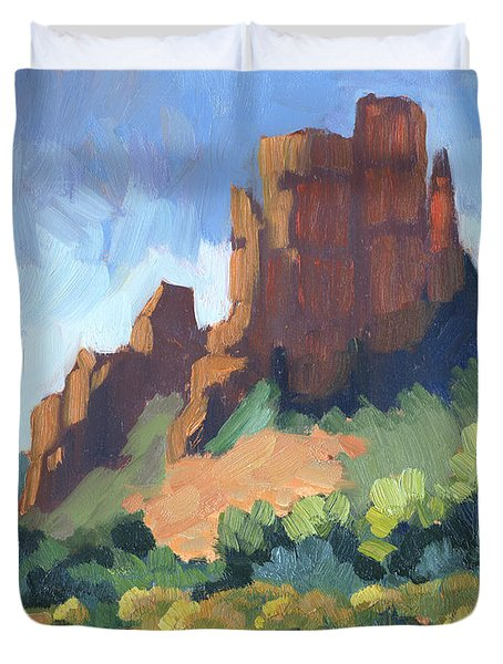 View Of Cathedral Rock Sedona Duvet Cover