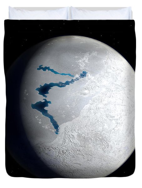 View Of Earth 650 Million Years Ago Duvet Cover