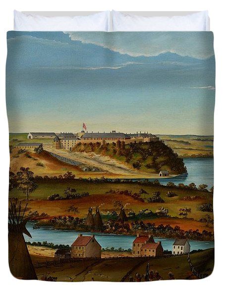 View Of Fort Snelling Duvet Cover by Edward K Thomas