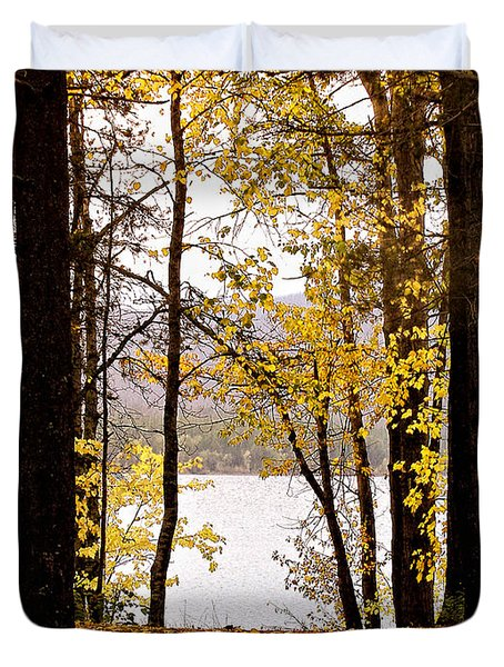 View Of  Lake Mcdonald Duvet Cover