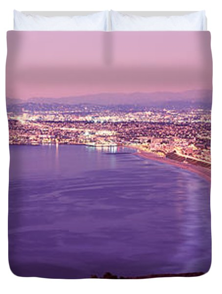 View Of Los Angeles Downtown Duvet Cover