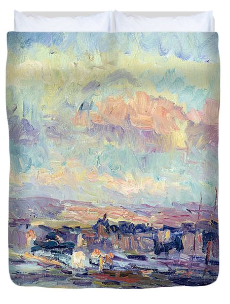 View Of Paris Duvet Cover by Albert Charles Lebourg