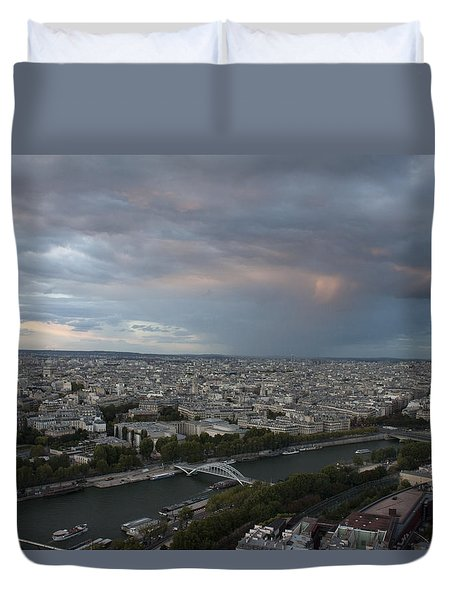 View Of Paris Duvet Cover by Ivete Basso Photography