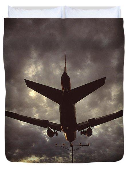 View Of Plane Duvet Cover
