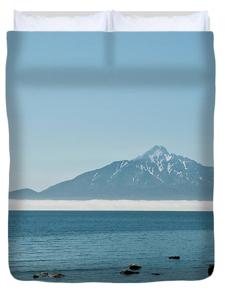 View Of  Rishiri-to Island, Hokkaido Duvet Cover