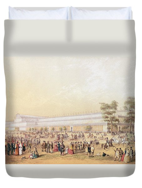 View Of The Crystal Palace Duvet Cover