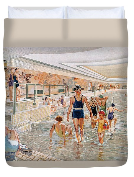 View Of The First Class Swimming Pool Duvet Cover