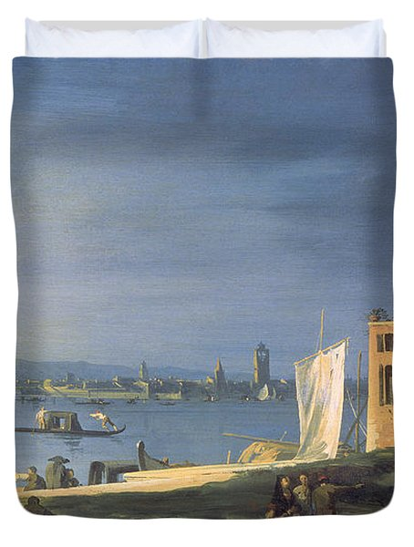View Of Venice Duvet Cover by Canaletto