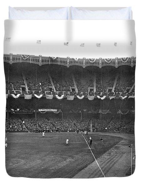 View Of Yankee Stadium Duvet Cover