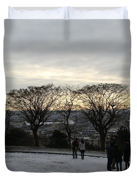 View Over Paris Duvet Cover