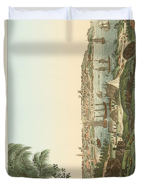 Views Of The City Of Sydney Duvet Cover