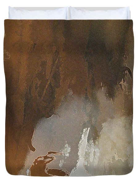Vii - Mirky Wood Duvet Cover