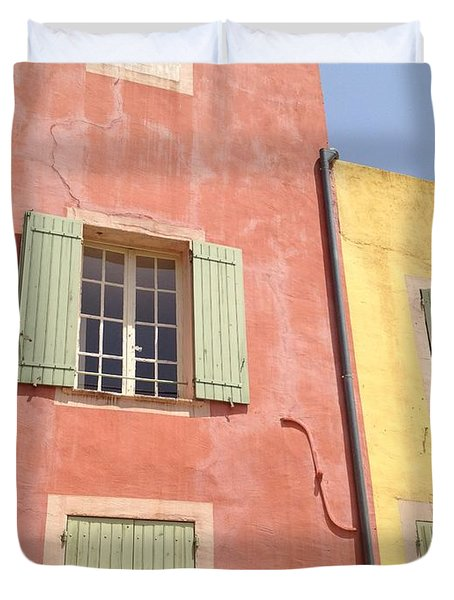 Village Of Roussillon France Duvet Cover by Pema Hou